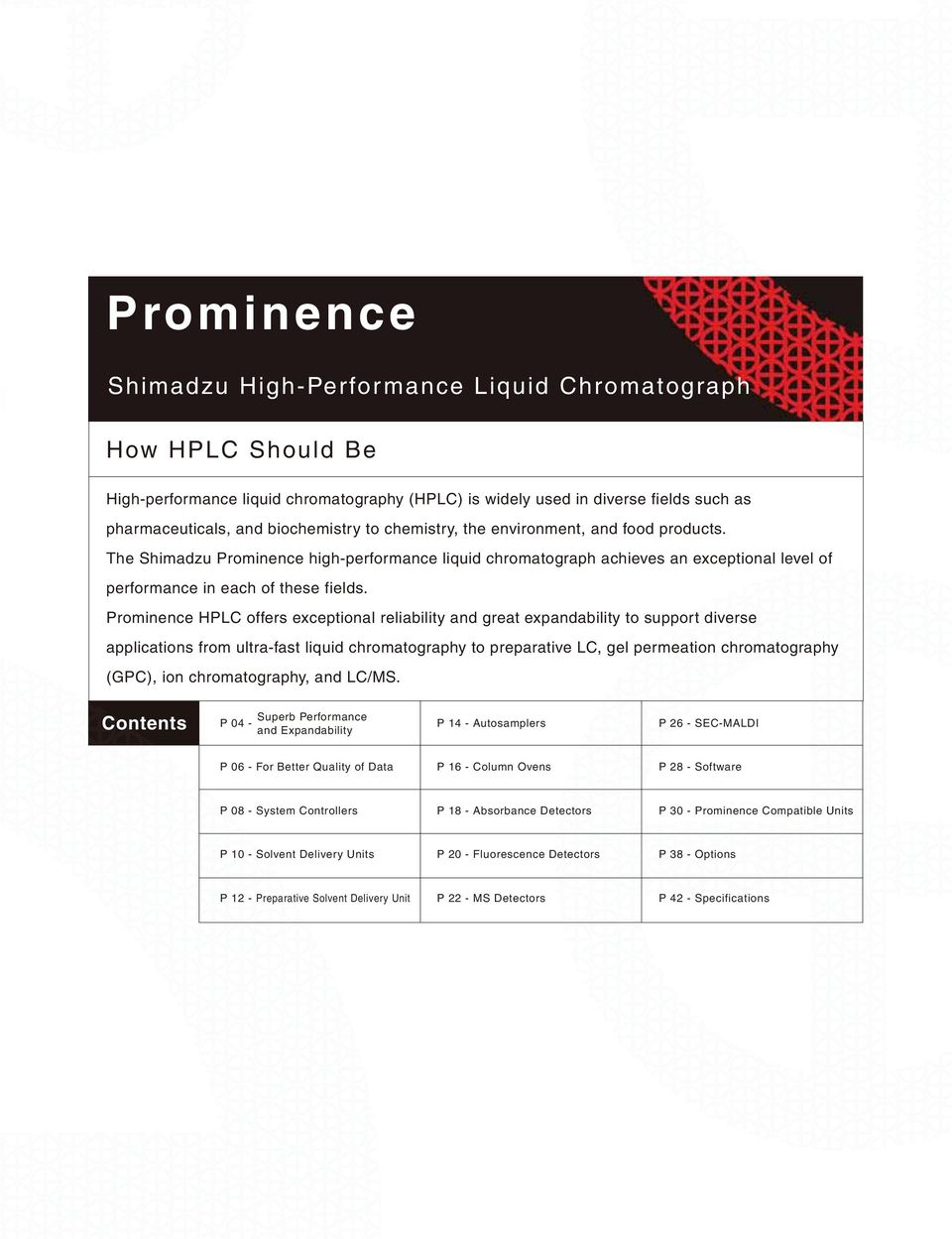 C196-E061N  Prominence  Shimadzu High-Performance Liquid