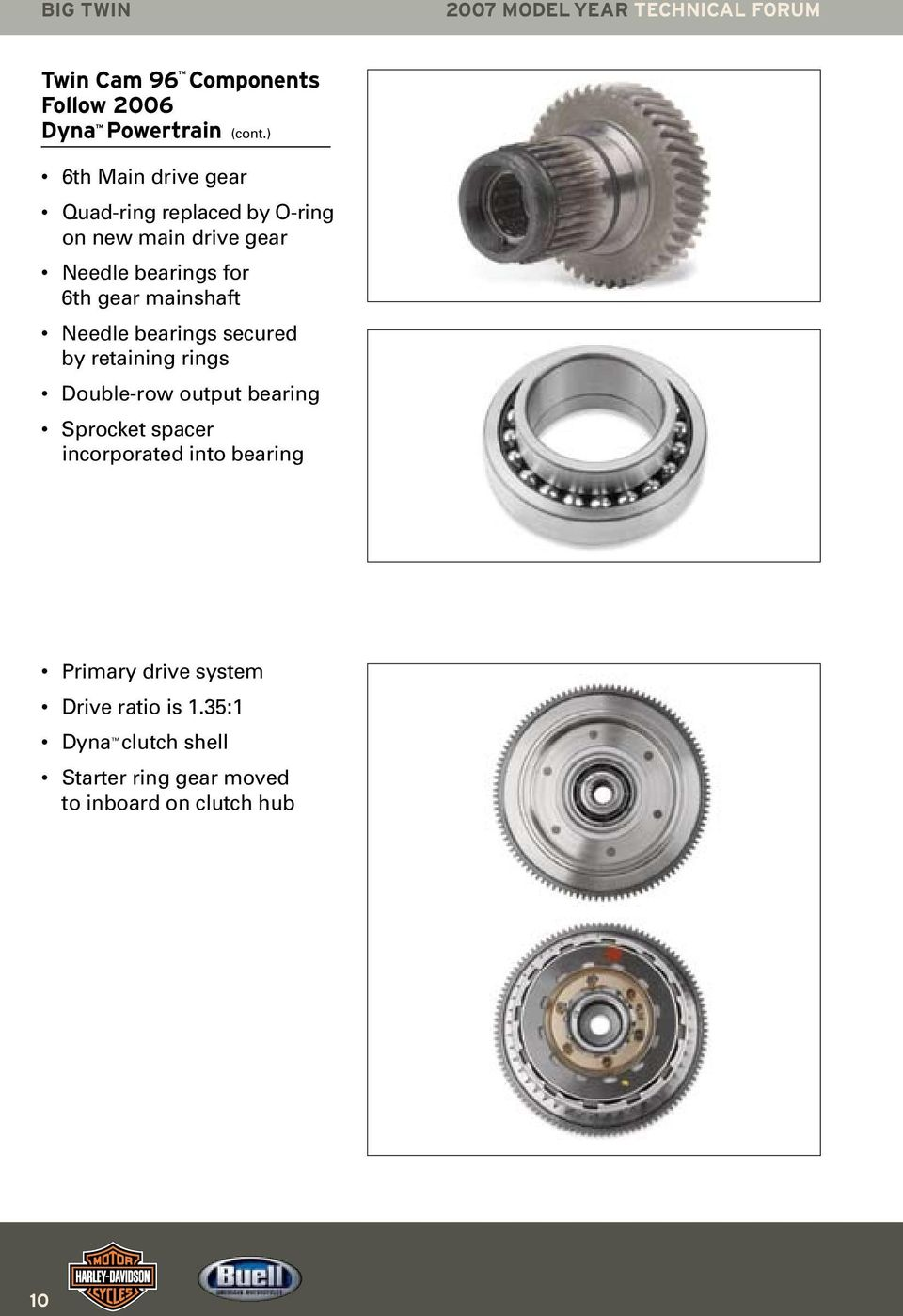 Harley Davidson University Tech N Ical F Or U M 2007 Model Year Pdf 07 Flhtcu Wiring Diagrams Color Mainshaft Needle Bearings Secured By Retaining Rings Double Row Output Bearing Sprocket Spacer Incorporated