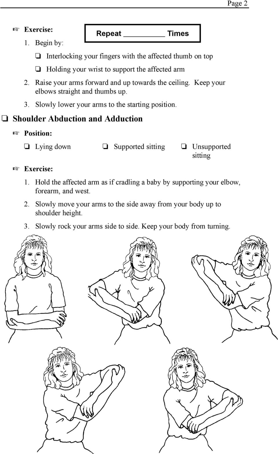 Self-Range of Motion Exercises for Shoulders, Arms, Wrists