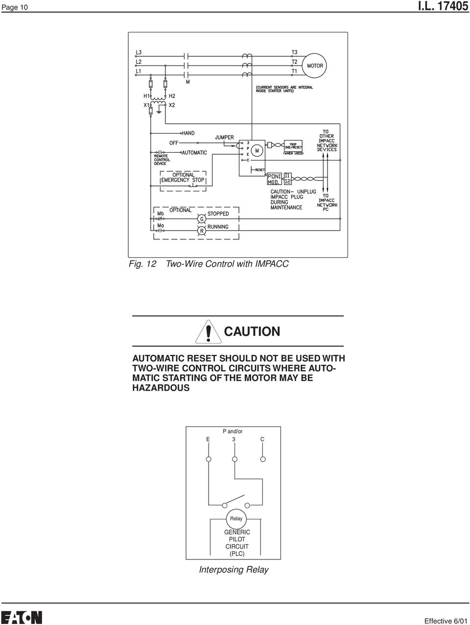 Instructions For Class W200 W201 Sizes 5 And 6 Three Phase Non 10 Hp Motor Starter Typical Wiring Diagram Not Be Used With Two Wire Control Circuits Where Auto Matic