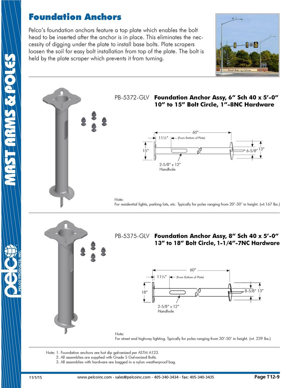 Mast Arms Poles Ornamental Pole Top Bases Pdf Parking Lot Light Wiring Diagram The Bolt Is Held By Plate Scraper Which Prevents It From Turning