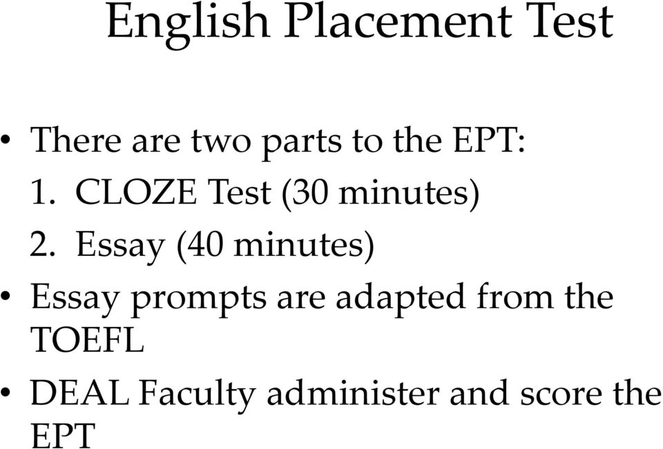 Preparing for the UOG English Placement Test - PDF