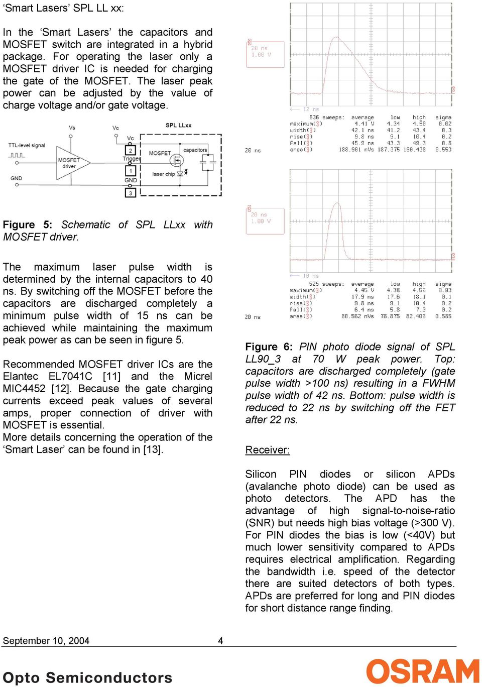 Range Finding Using Pulse Lasers Application Note Pdf Laser Diode Diagram Circuits For Infrared Leds And Visible Figure 5 Schematic Of Spl Llxx With Mosfet Driver The Maximum Width
