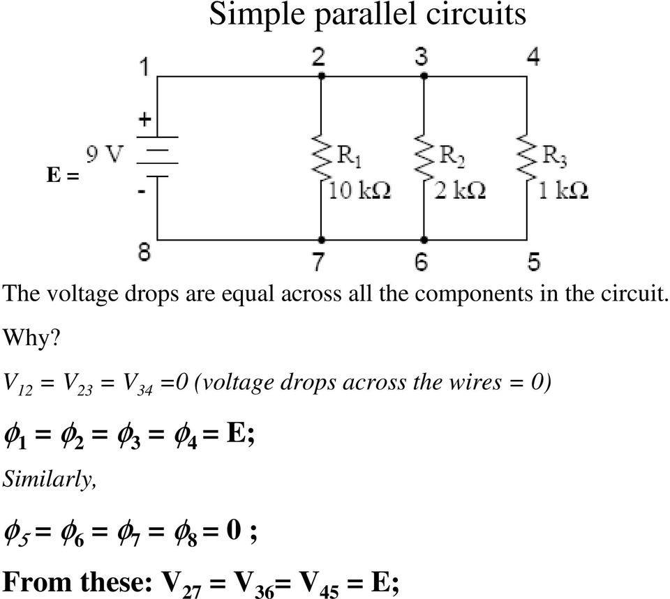 Kirchhoffs Current Law Kcl Pdf Simple Parallel Circuits V 3 34 0 Voltage Drops Across The Wires 19 Currents In