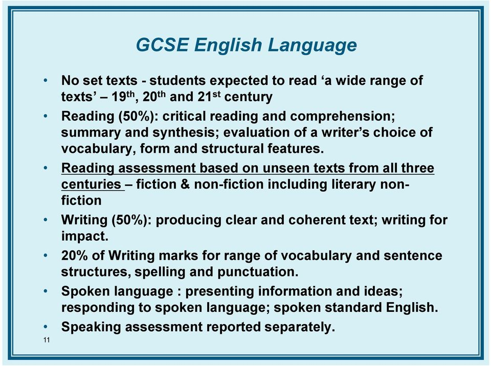 Preparing For The New GCSE English Specifications PDF