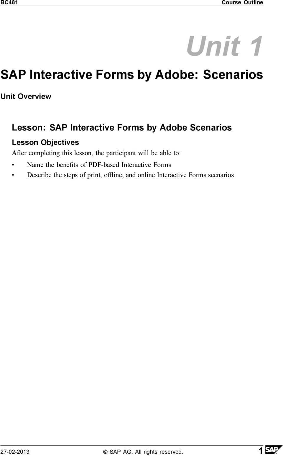 BC481 SAP Interactive Forms by Adobe - PDF