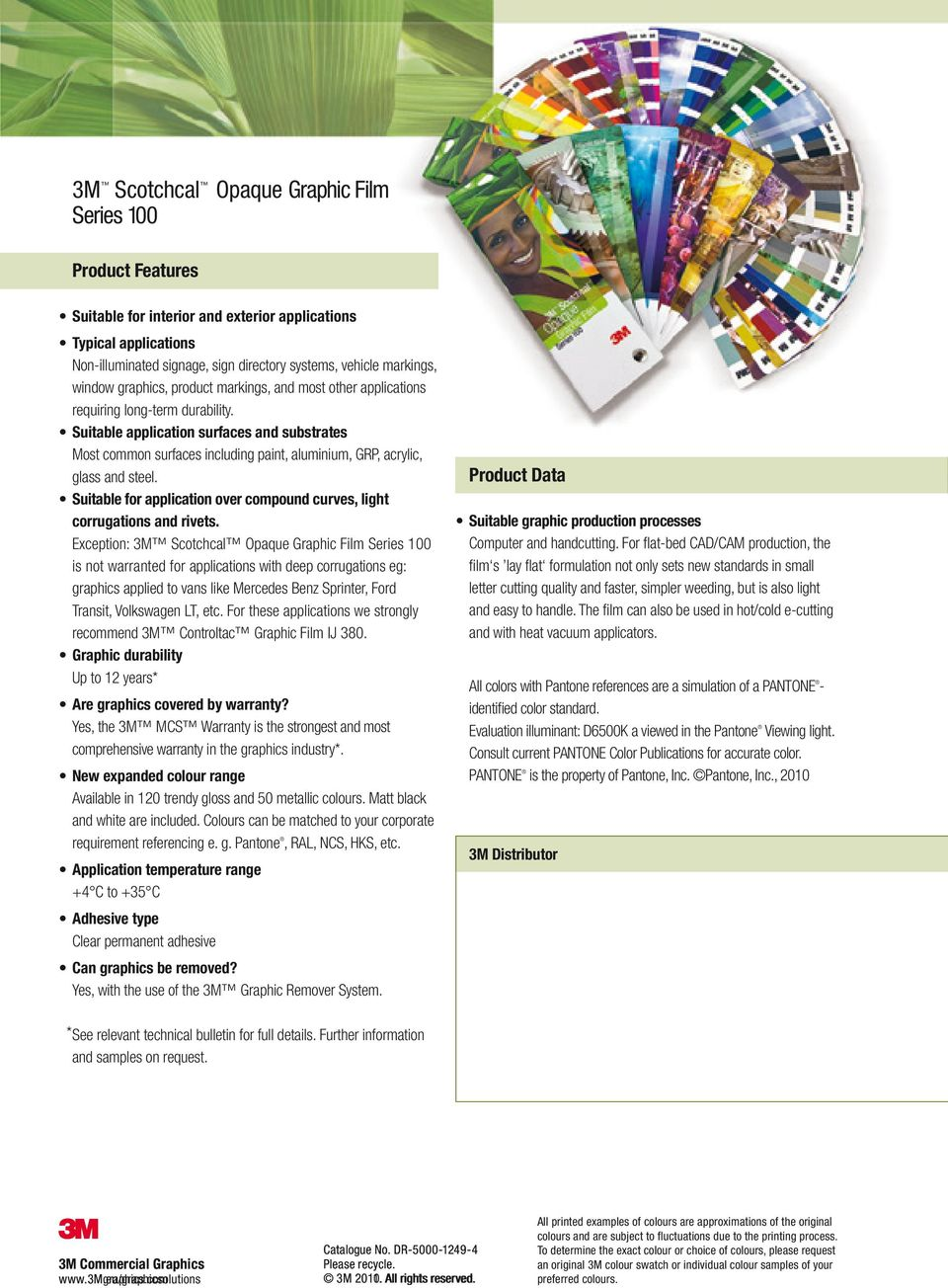 3M Commercial Graphics  Colour Card Reference Guide