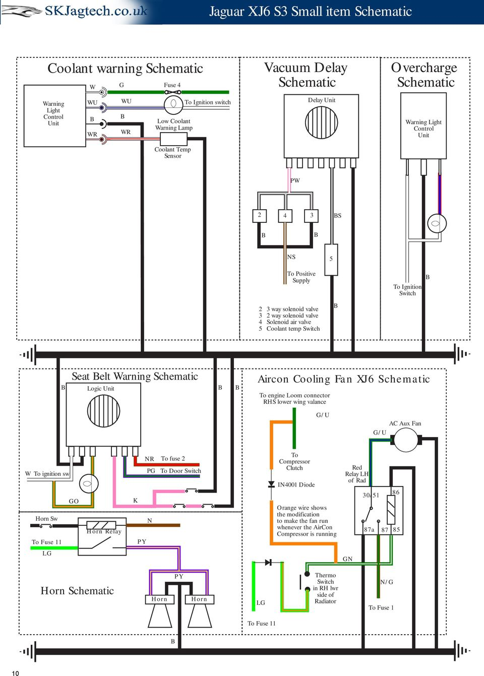 Jaguar Xj6 Series 3 Schematic Drawings Pdf Tail Light Wiring Diagram Along With Electric Fan Relay Warning Logic Unit Aircon Cooling To Engine Loom Connector Rhs Lower Wing