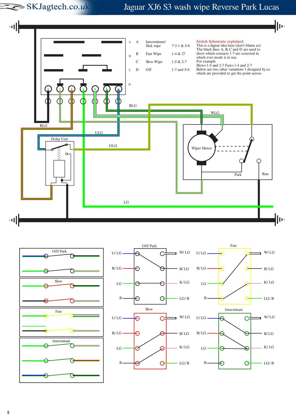 Jaguar Xj6 Electrical Diagram Series 2 Wiring Library For Example Slow1 5 And 7 Fast1 6 3 Schematic Drawings