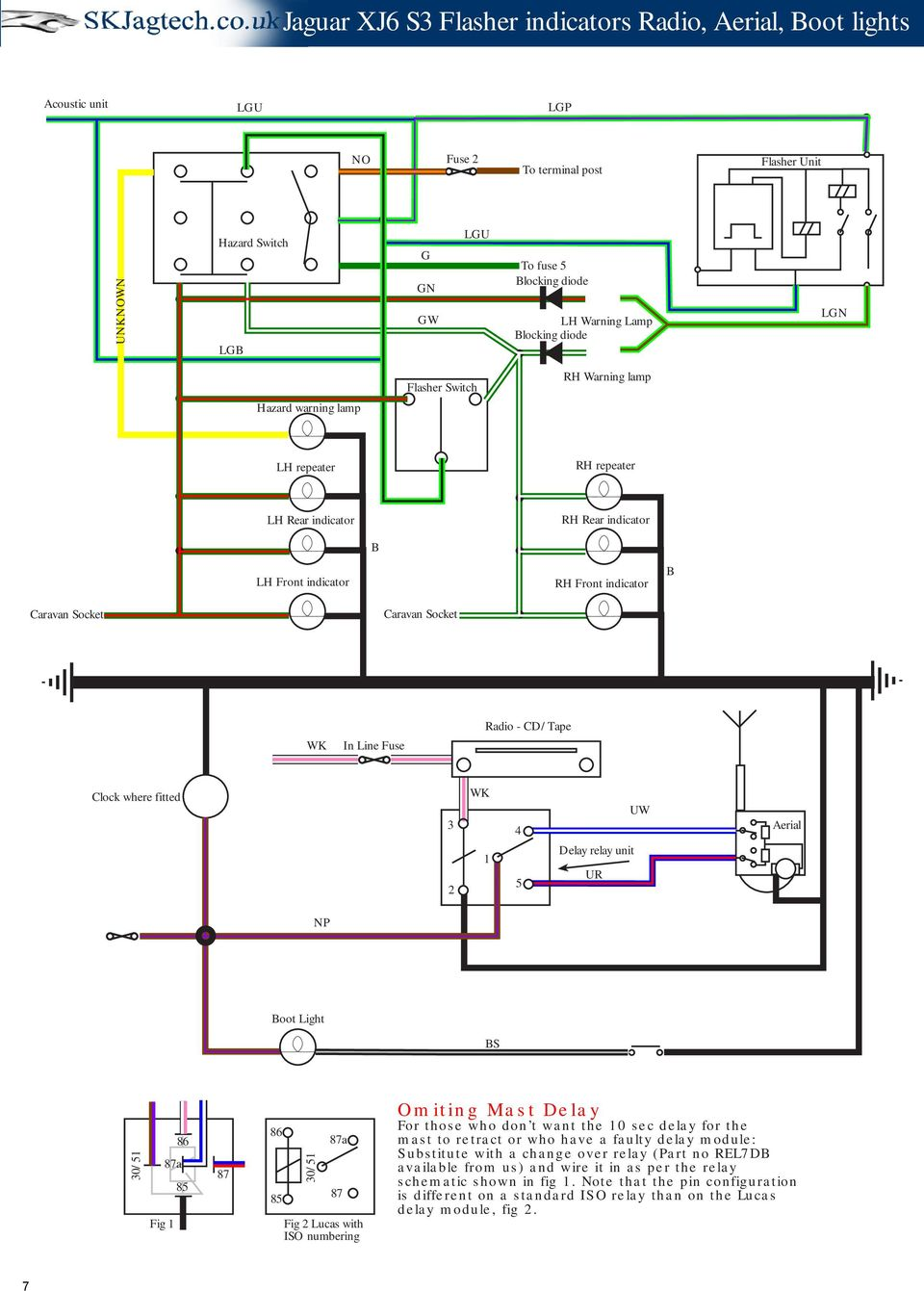 2006 Caravan 2 4 Engine Diagram Jaguar Xj6 Series 3 Schematic Drawings Pdf Cd Tape Clock Where Fitted Wk 1 5 Delay Relay Unit Ur
