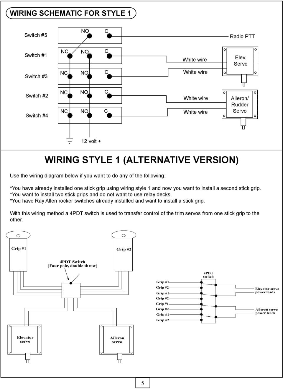 Installation Instructions For G205 And G207 Stick Grips Pdf Double Rocker Switch 12v Wiring Diagram Following You Have Already Installed One Grip Using Style 1 Now