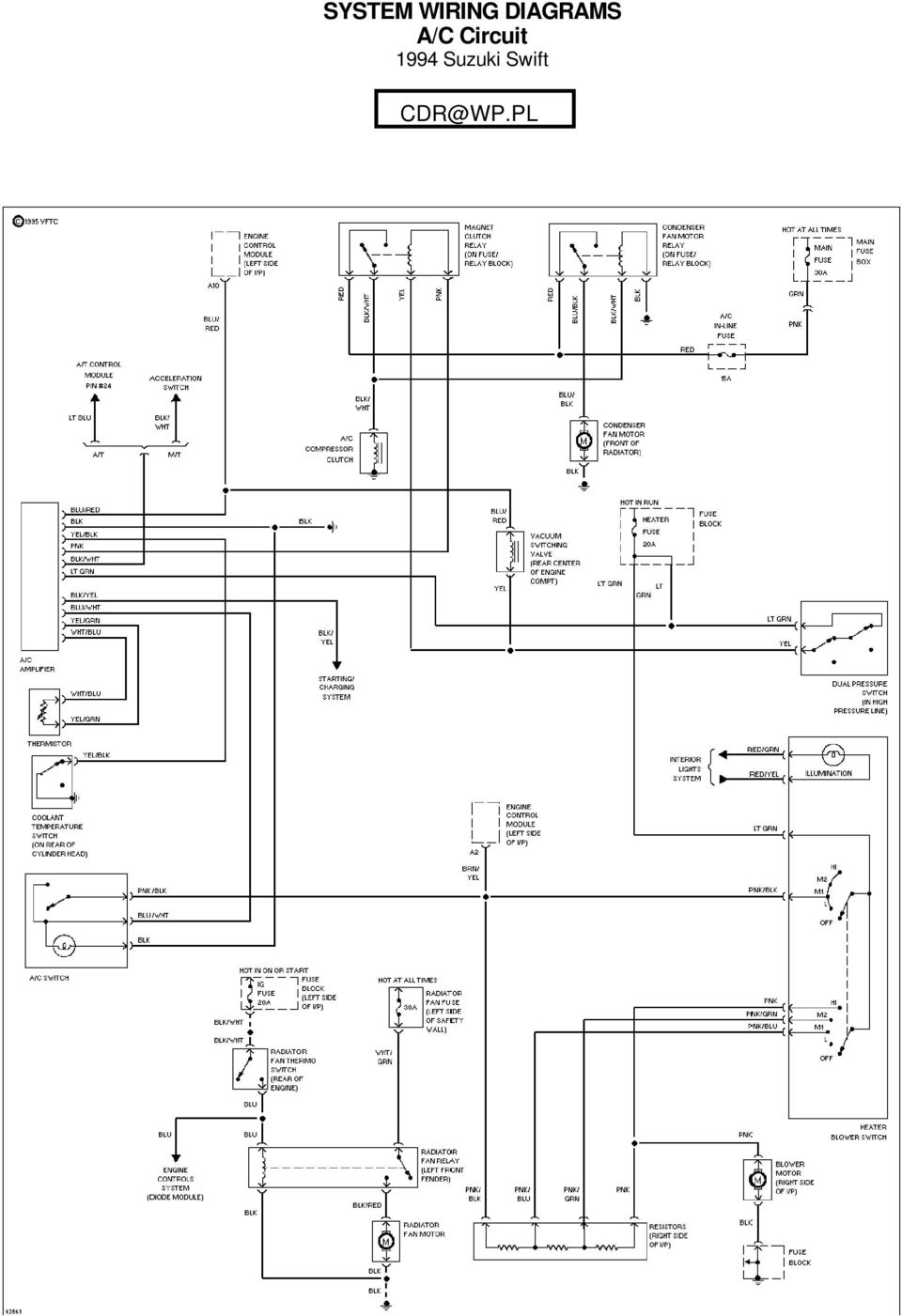 System Wiring Diagrams A C Circuit 1994 Suzuki Swift For X Copyright Autoshop101 1
