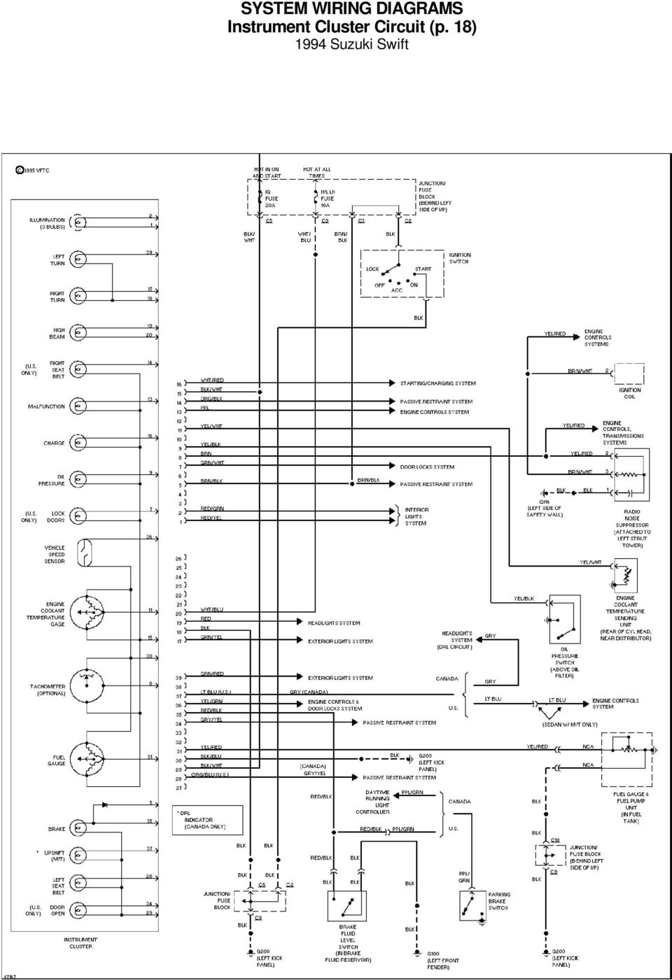 System Wiring Diagrams A C Circuit 1994 Suzuki Swift For X Copyright Dome Light Schematic Volvo 19 Interior P