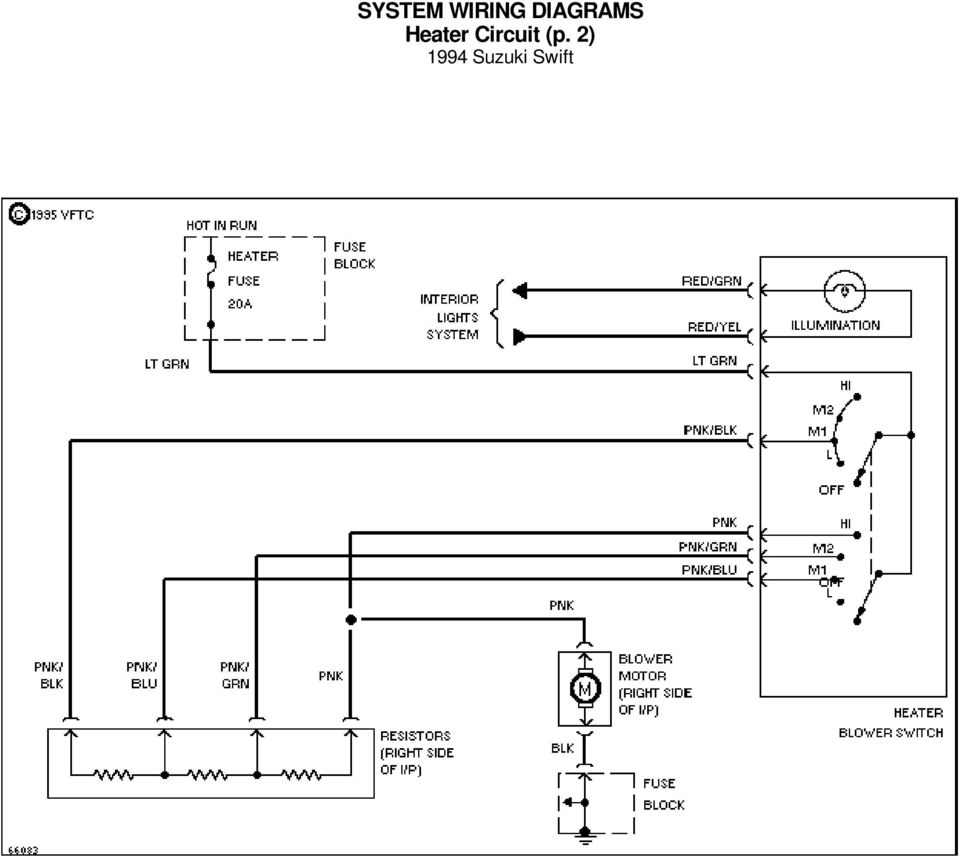 System Wiring Diagrams A C Circuit 1994 Suzuki Swift For X Copyright 90 Diagram 3 Data Link Connector P