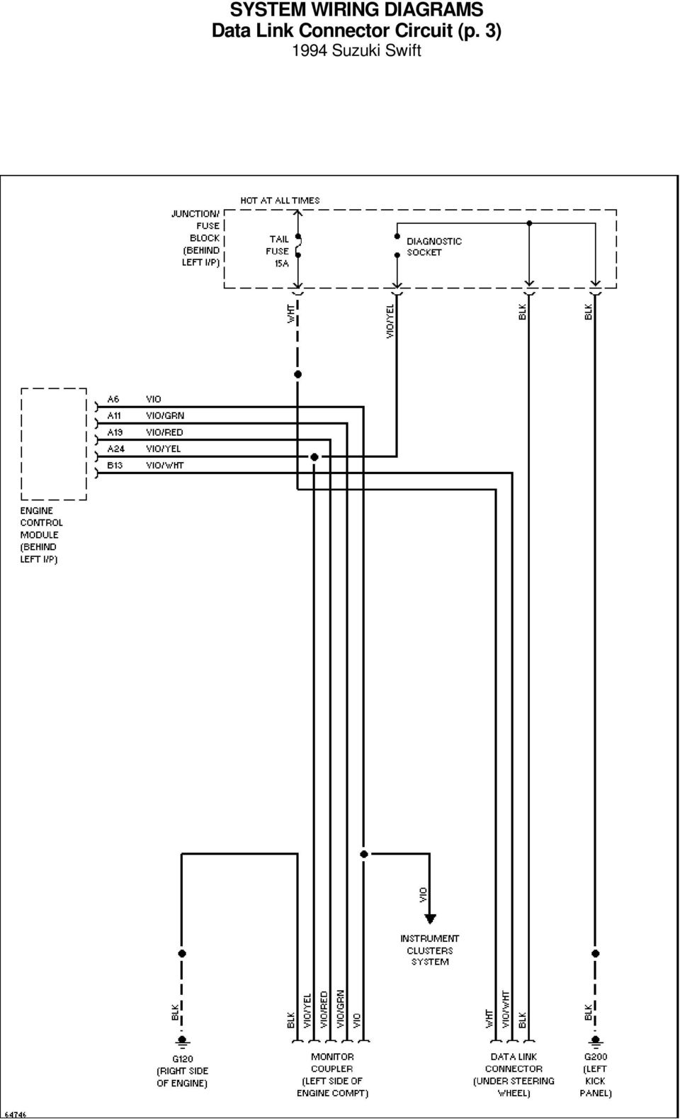 System Wiring Diagrams A C Circuit 1994 Suzuki Swift For X Copyright Jaguar Xj6 Charging Diagram