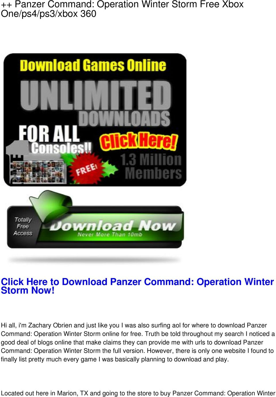 Panzer Command: Operation Winter Storm Free Xbox One/ps4/ps3