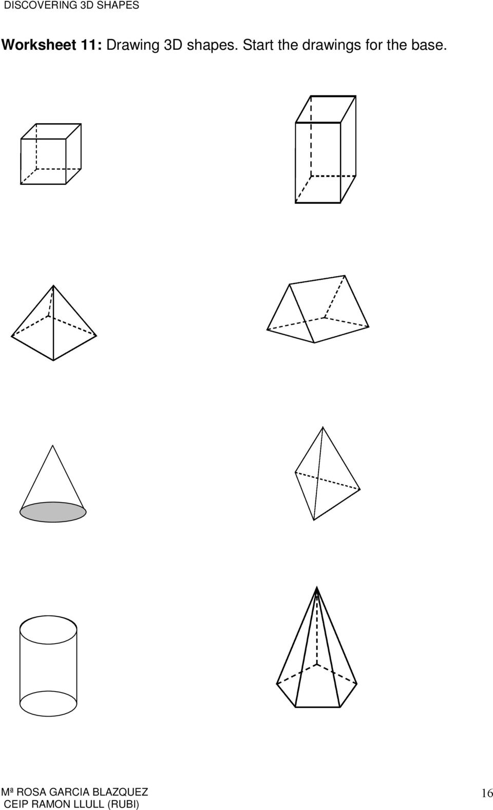 how to draw a net of a 3d shape