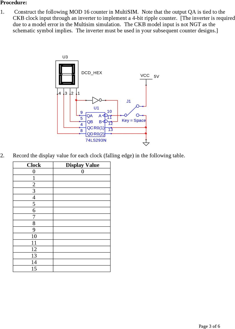Counter Schematic Symbol Trusted Wiring Diagram Geiger Circuit Digital Fundamentals Lab 8 Asynchronous Applications Pdf Flowmeter