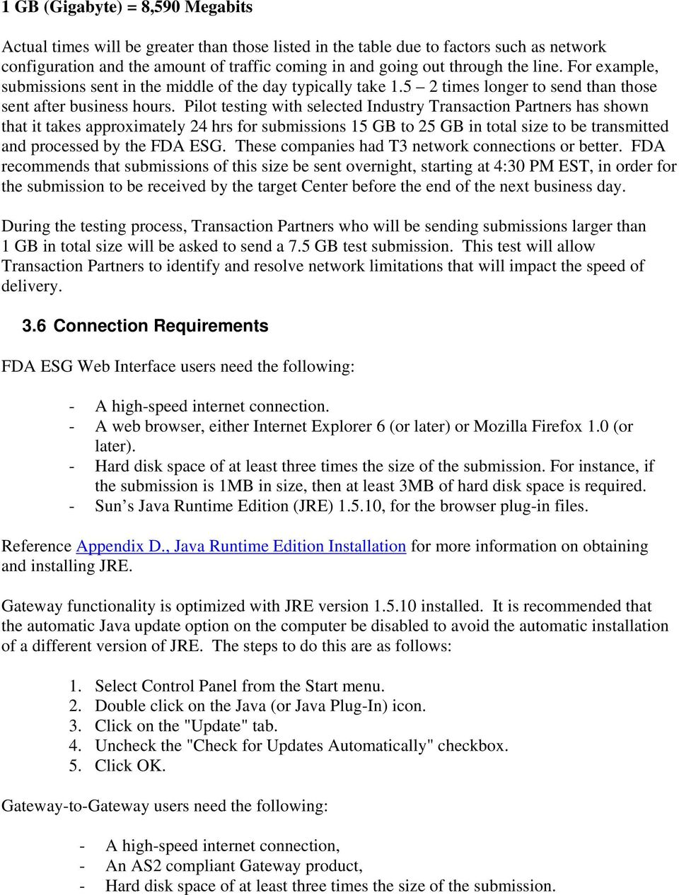 FDA Electronic Submissions Gateway (ESG) User Guide  July 1, PDF