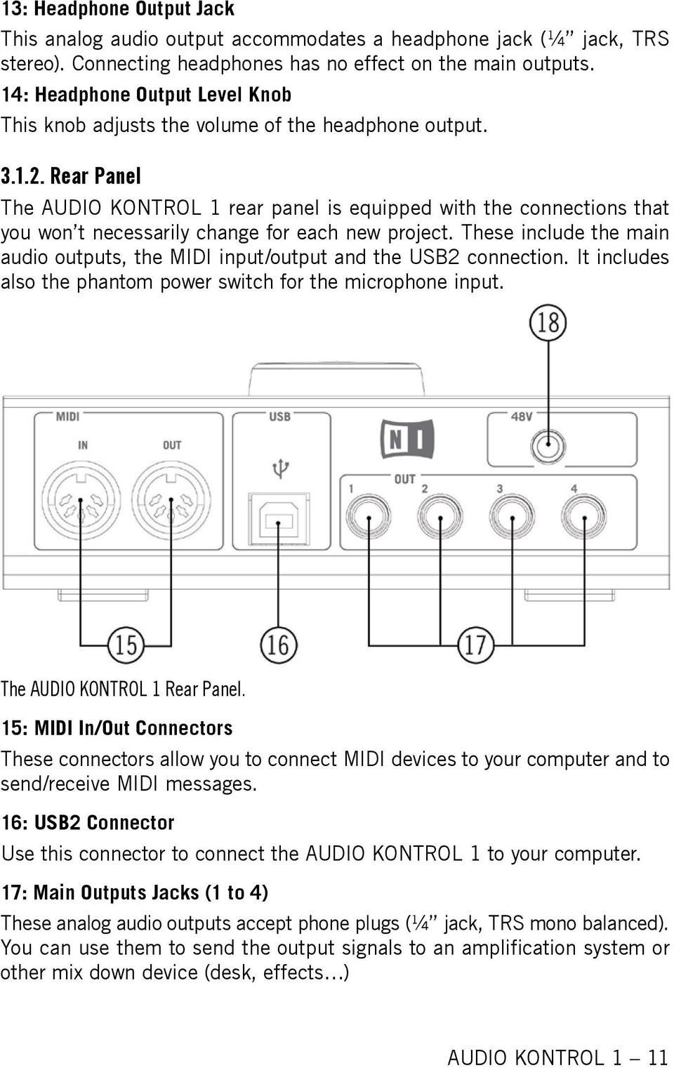 Audio Kontrol 1 Operation Manual Pdf Wiring A 4 Out Put Jack Rear Panel The Is Equipped With Connections That You Won
