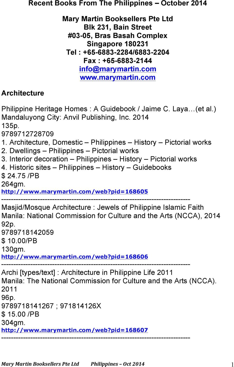 Recent Books From The Philippines October PDF