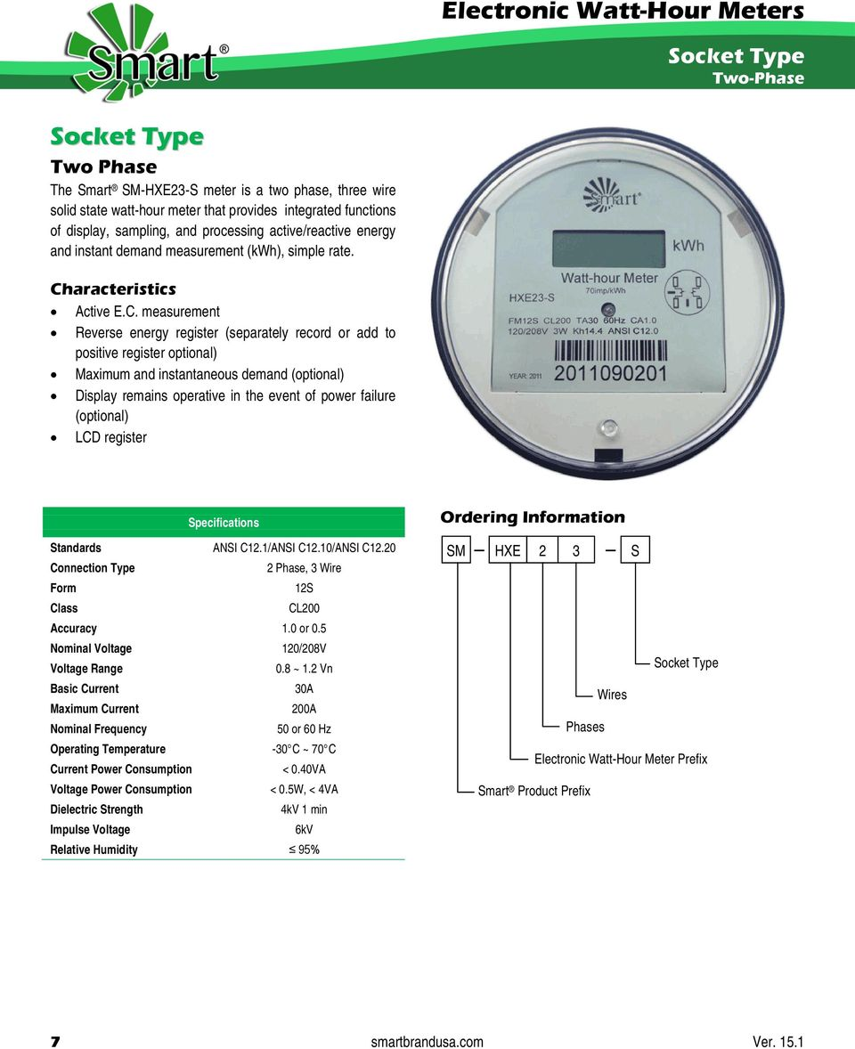 Electronic Watt Hour Meters Catalog Pdf The Wiring Circuit Diagram With Singlephase Watthour Meter Measuring Aracteristics Active Ec