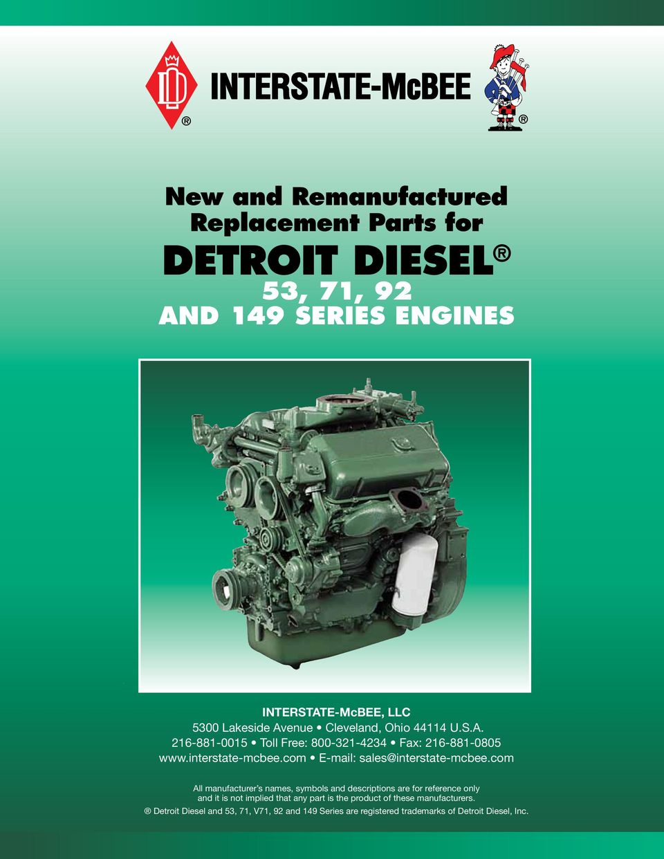 New and Remanufactured Replacement Parts for Detroit Diesel 53, 71