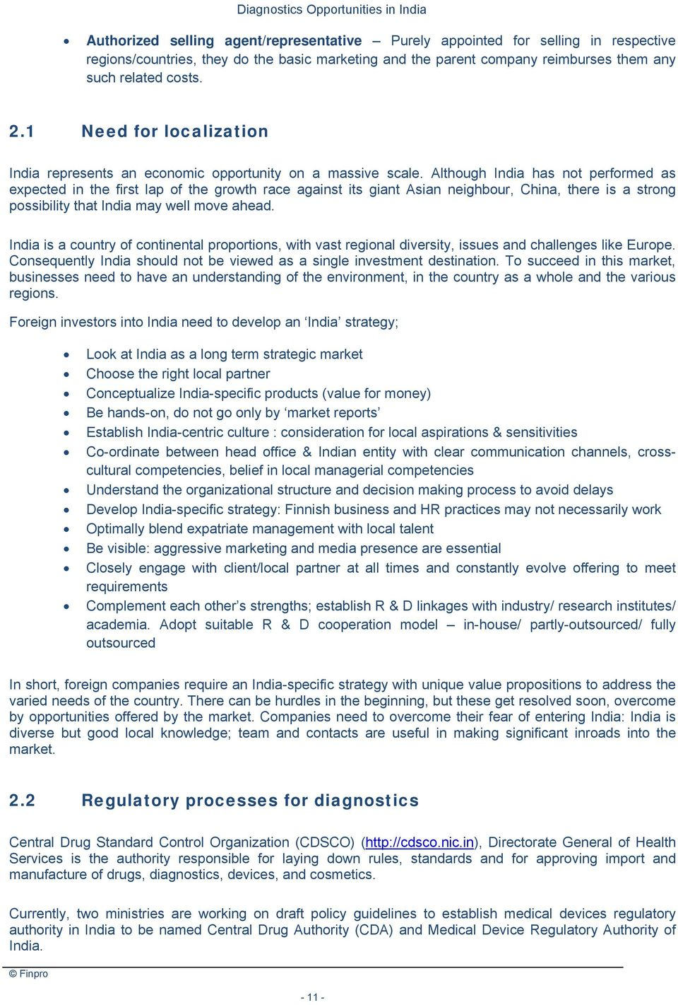 Diagnostics Opportunities in India  Guide for Finnish