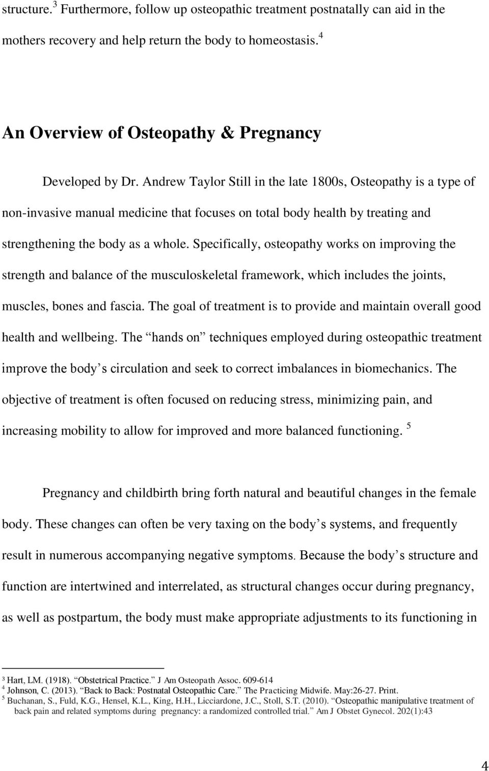 Osteopractic after childbirth: the rapid recovery of a young mother 79