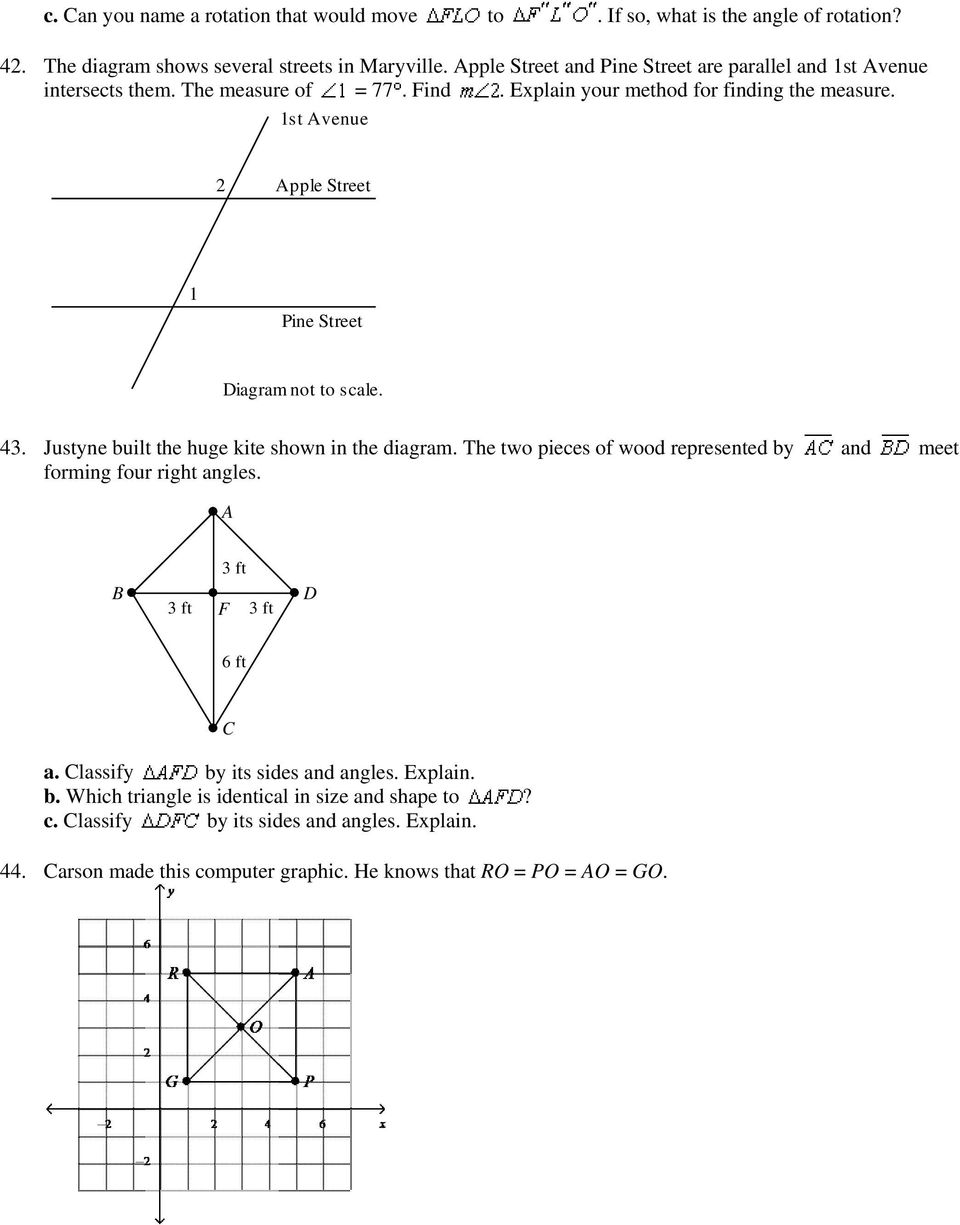 7 Th Grade Study Guide Iv Partial Remember To Practice The Diagram Stepping Left Full Size 1st Avenue 2 Apple Street 1 Pine Not Scale 43 Justyne