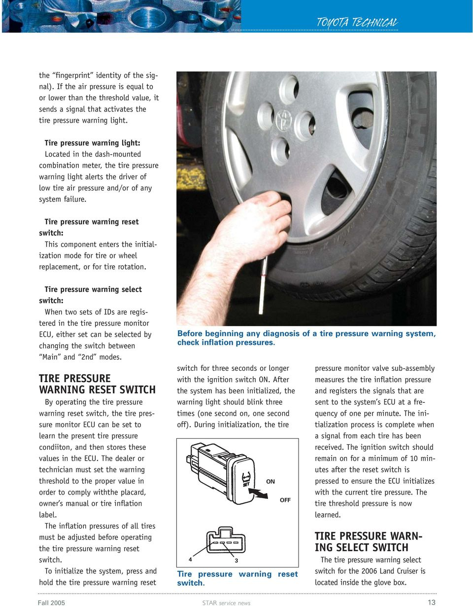 Toyota Sienna Service Manual: Tire pressure warning ecu