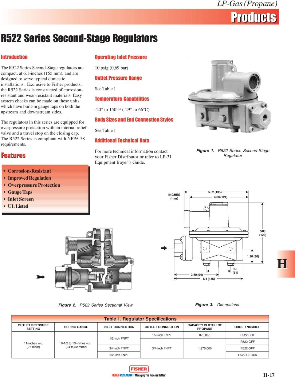 Propane Catalog Table of Contents  Integral Two-Stage