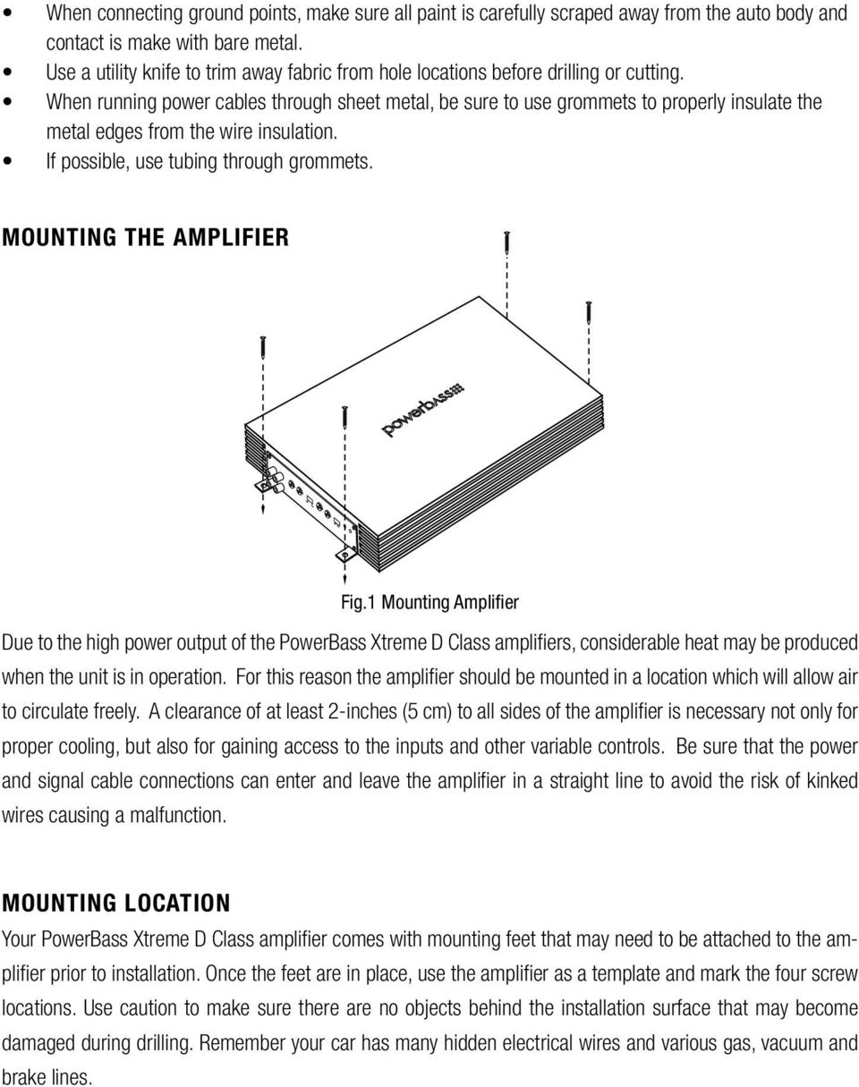 Owners Manual Xtreme Series Class D Amplifier Xta 4000d 5000d Pdf Figure 1 First Rf Module A3 Schematic Diagram When Running Power Cables Through Sheet Metal Be Sure To Use Grommets Properly Insulate