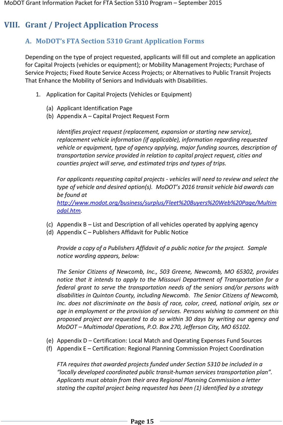 FTA Section 5310 Program Overview & Application Guidelines - PDF