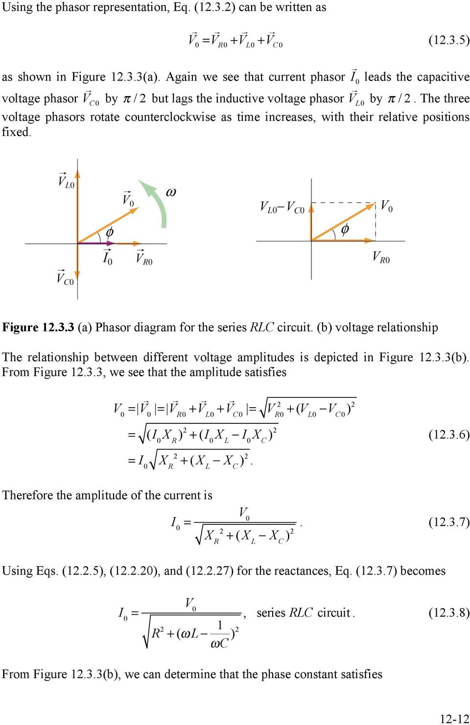 Chapter 12 Driven Rlc Circuits Pdf If We Increase The Inductance In An Rl Circuit What Happens To Three Voltage Phasors Rotate Counterclockwise As Time Increases With Their Relative Positions Fixed