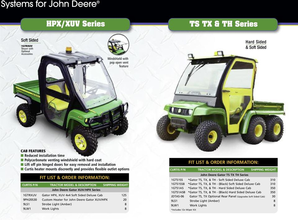 Cab Systems for John Deere  We provide the perfect enclosure