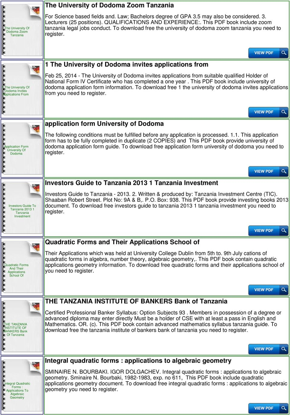 To download free the university of dodoma zoom tanzania you need to 1 The  University of