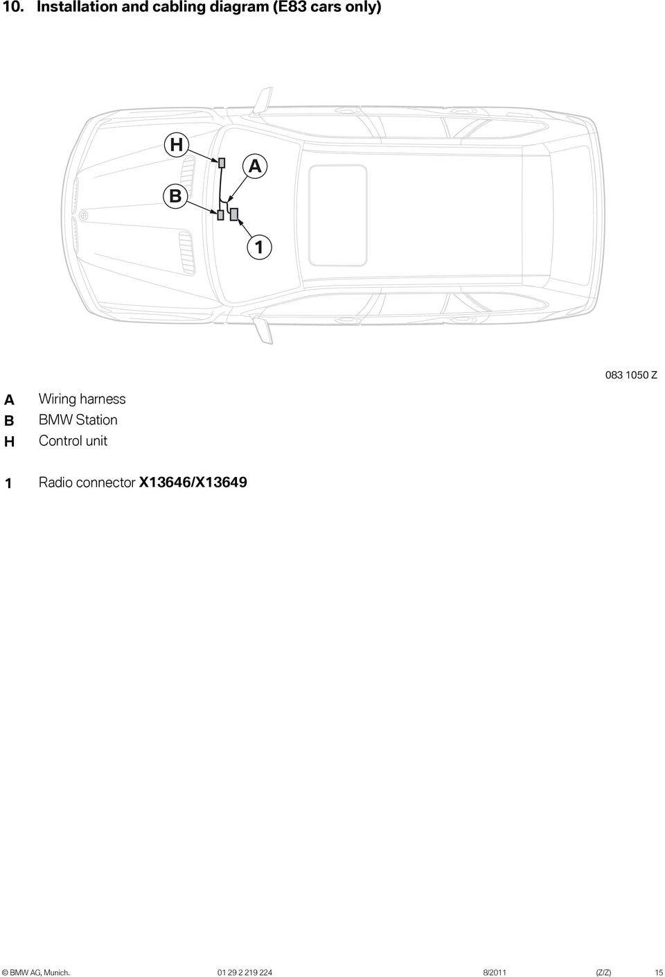 Original Bmw Accessories Installation Instructions Pdf Stereo Wire Harness Mini Cooper 06 2006 Car Radio Wiring Station Control