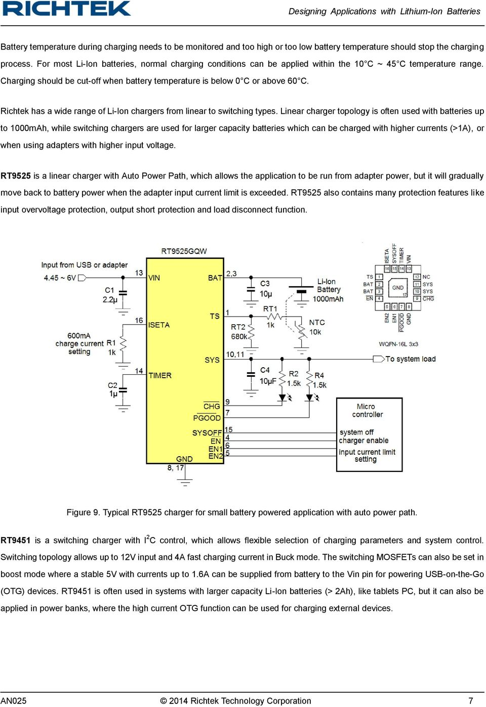 Designing Applications With Lithium Ion Batteries Pdf How To Build Solar Lamp Using Pr4403 Richtek Has A Wide Range Of Li Chargers From Linear Switching Types