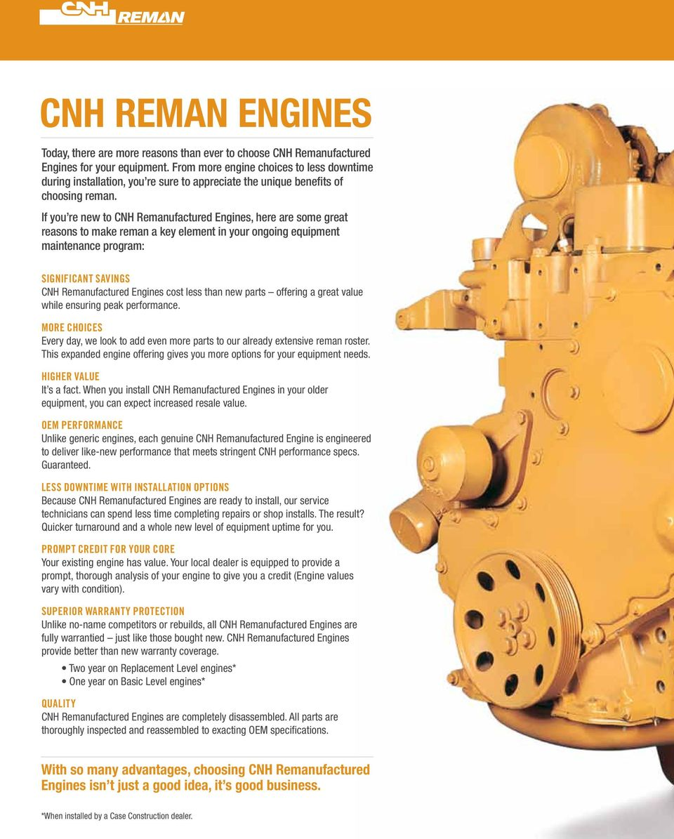 Reman Engines Application Guide Pdf Case Tractor 480f Wiring Diagram If You Re New To Cnh Remanufactured S Here Are Some Great Reasons Make