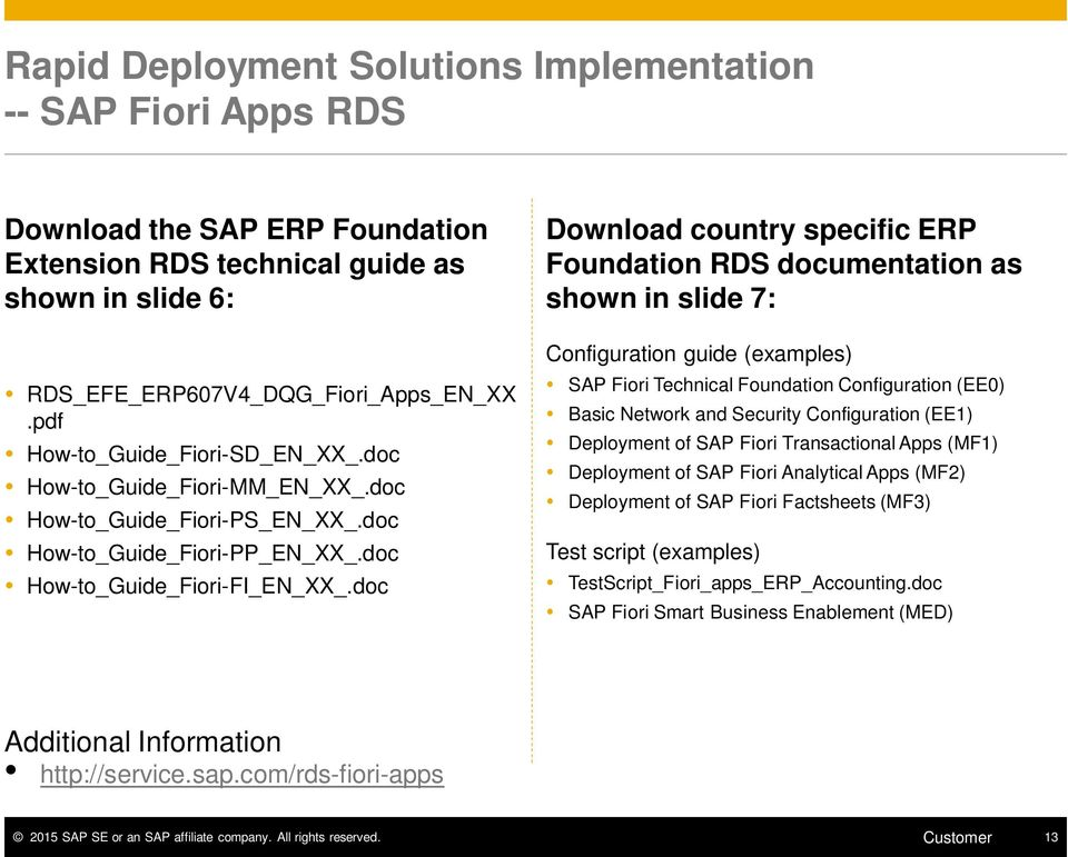 Deploy SAP ERP Foundation Extension Ready-to- Activate