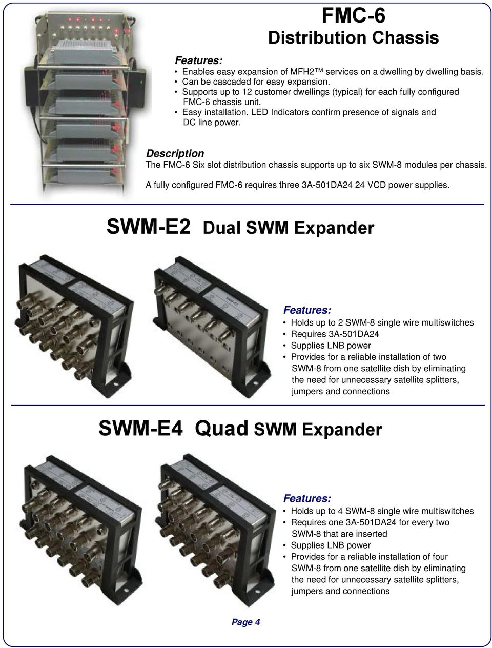 Swim Lnb Connections Swm Multiswitch Wiring Diagram The Six Slot Distribution Chassis Supports Up To Modules 960x1264
