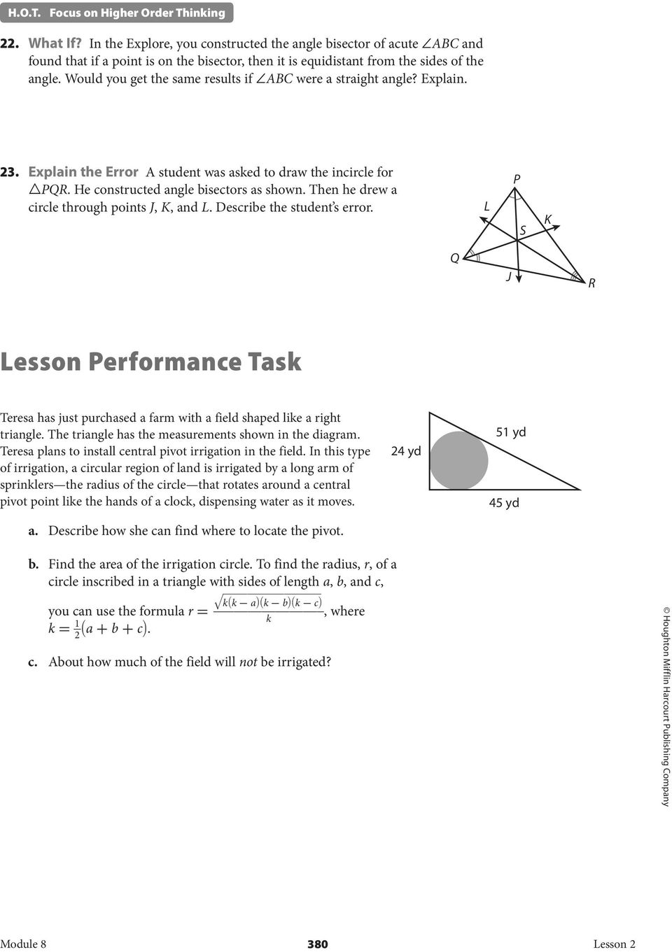 8 2 Angle Bisectors Of Triangles Pdf