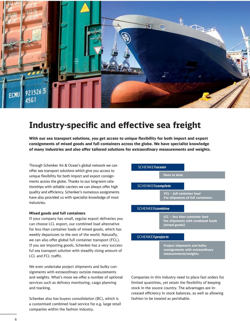 Schenker Air & Ocean Efficient air and sea freight all over