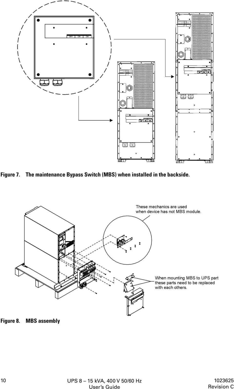 User S Guide Ups 8 15 Kva 400 V 50 60 Hz Output 3 Phase Input Bypass Switch Wiring Diagram Mbs When