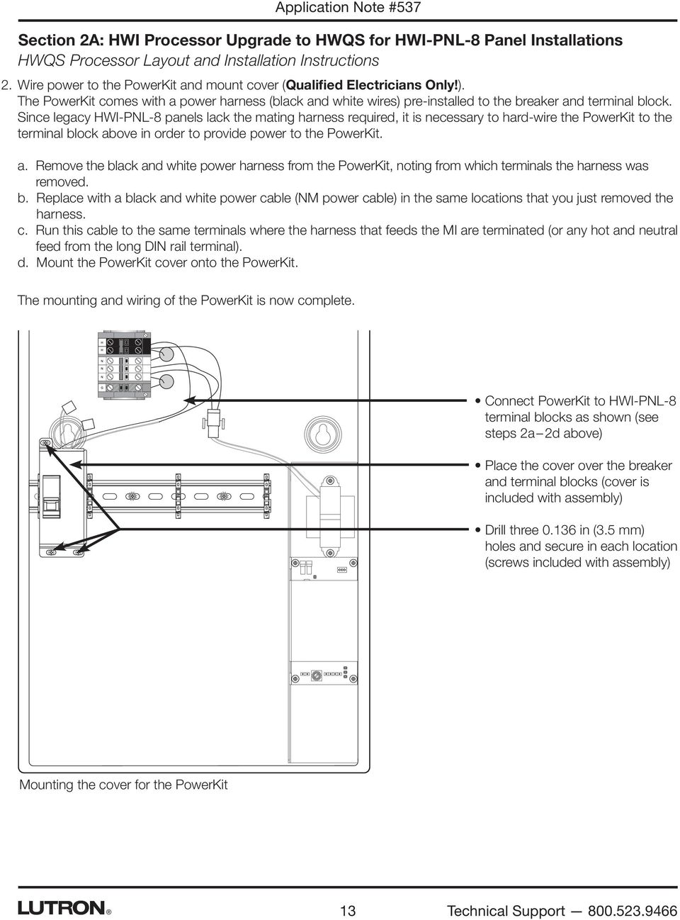 Hwi Pnl Lutron Homeworks Wiring Diagram 5 Libraries Shade Diagrams Application Note 537 Revision D August 2015 Solutions For Upgradingsince Legacy 8 Panels Lack
