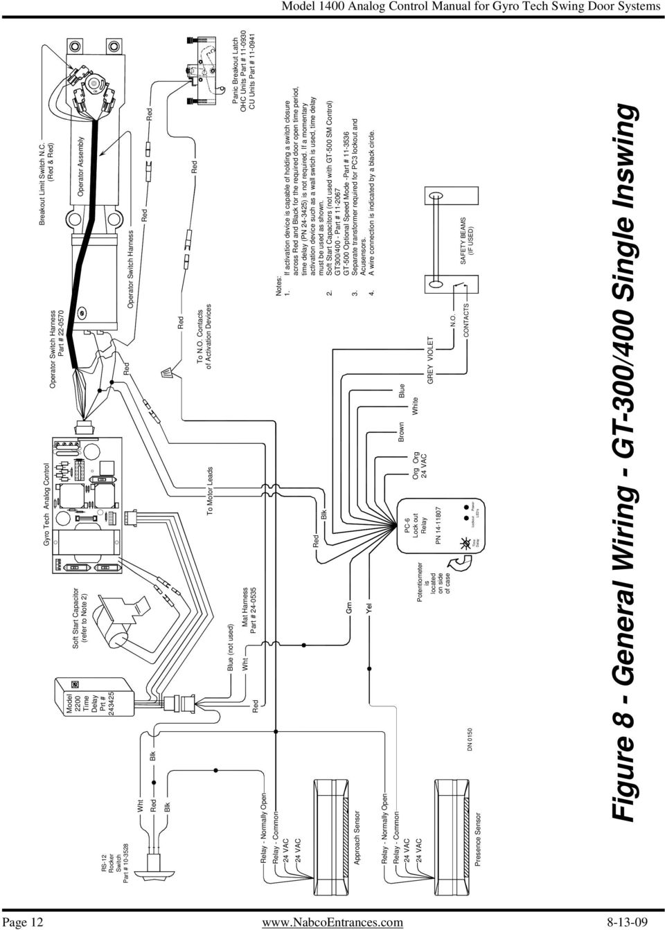 Analog Control Wiring Adjustment Manual For Gyro Tech Swing Door Sliding Gate Operator User S Schematic Diagram If Activation Device Is Capable Of Holding A Switch Closure Across And Black The Required