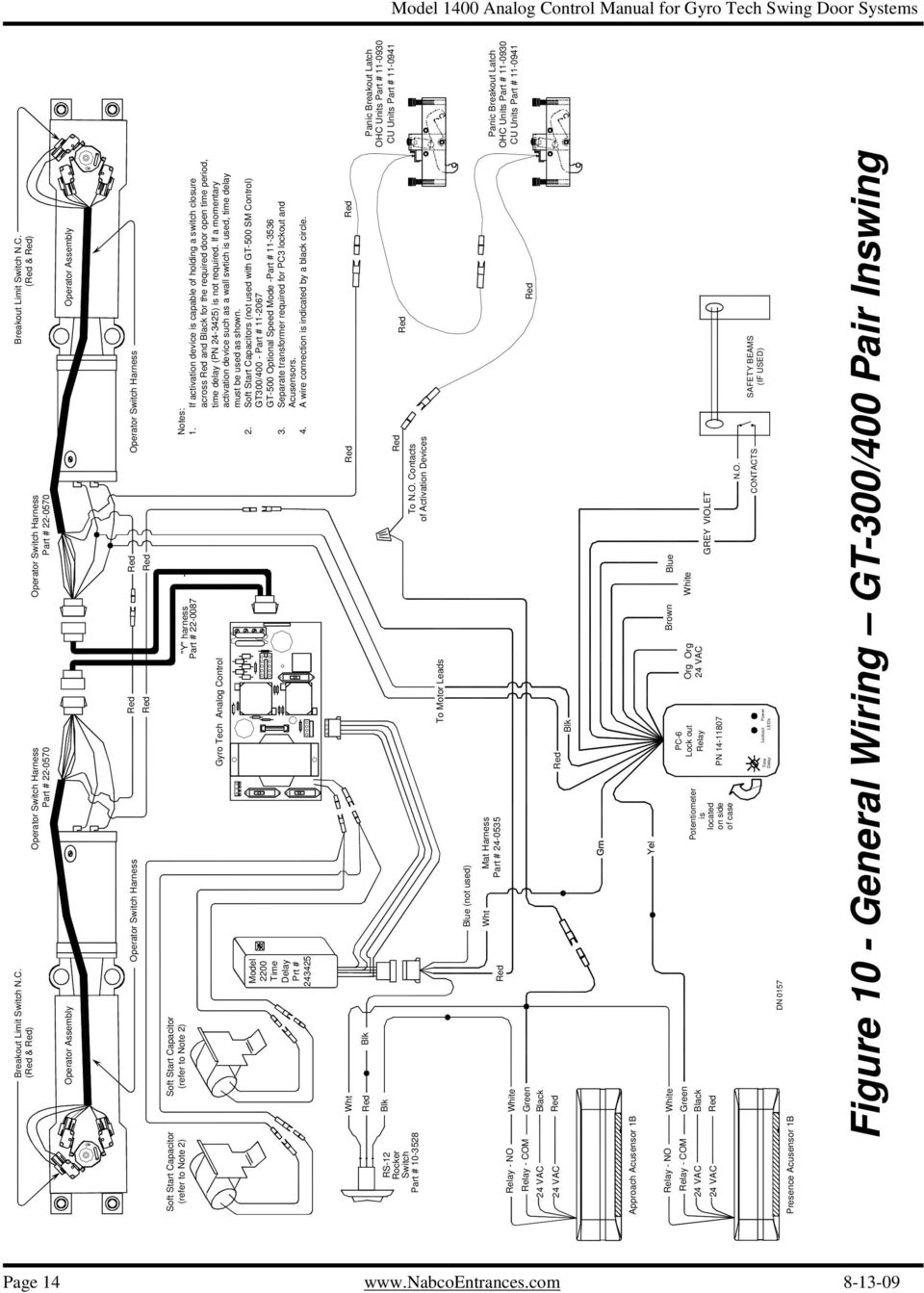 Analog Control Wiring Adjustment Manual For Gyro Tech Swing Door 70 5600 Car Wire Harness Diagram If A Momentary Activation Device Such As Wall Swtich Is Used Time Delay Must 15 Section B Sample Diagrams