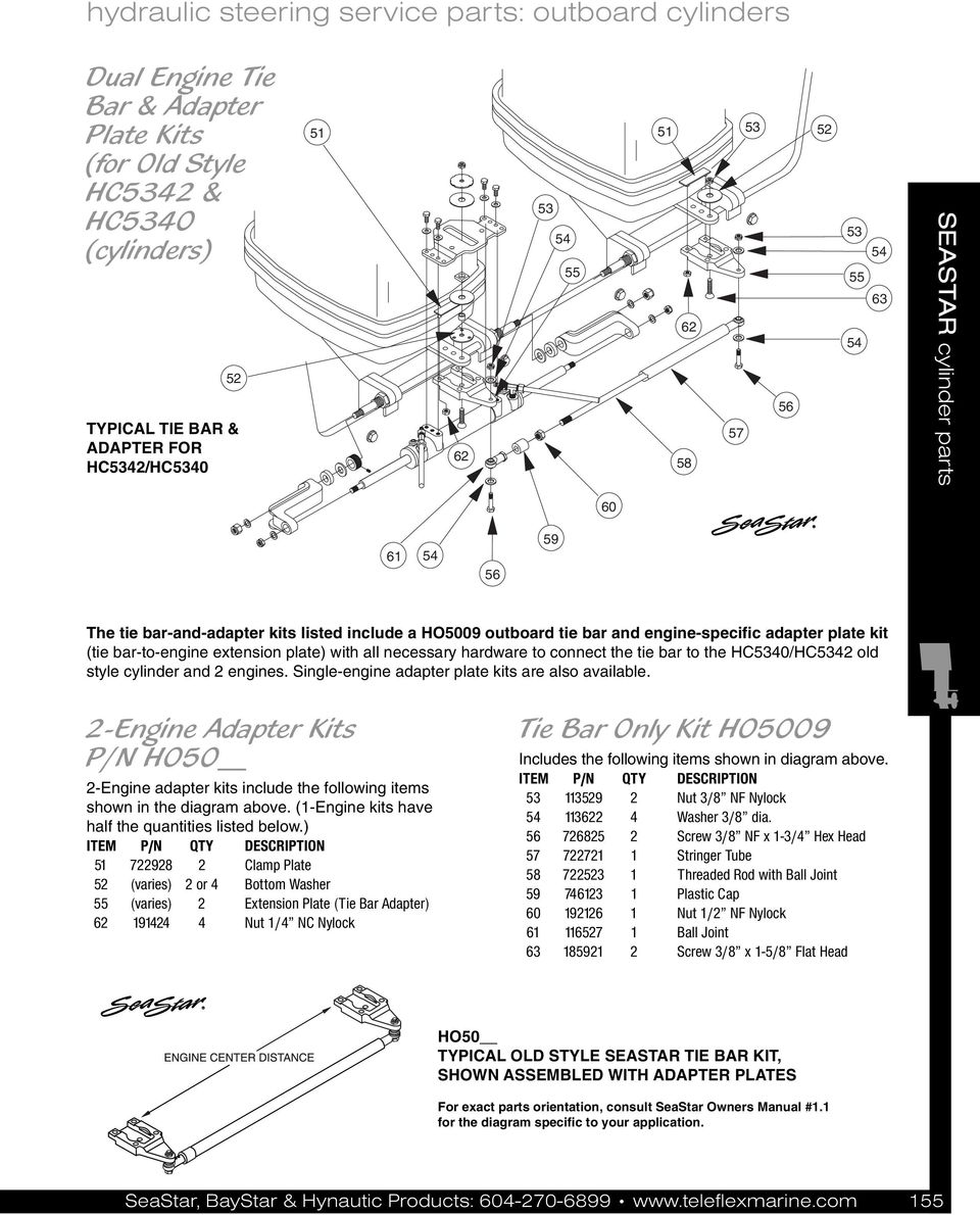 Seastar Steering Parts Pdf P 51 Engine Diagram To The Hc30 Hc3 Old Style Cylinder And Engines Single Adapter Plate