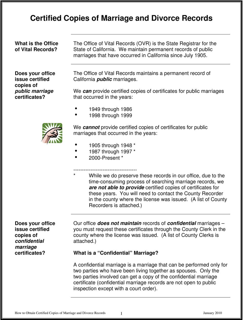 How To Obtain Certified Copies Of Marriage And Divorce Records Pdf